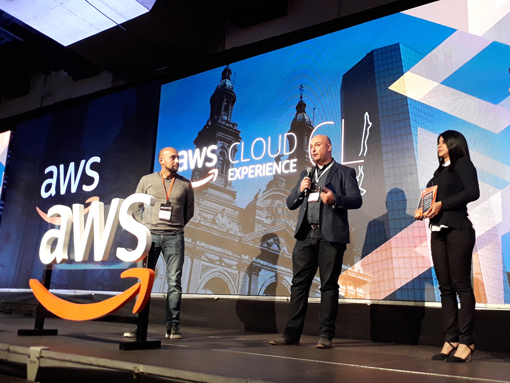 Morris Opazo attended to the Amazon Web Services (AWS) Cloud Experience 2018 in Chile