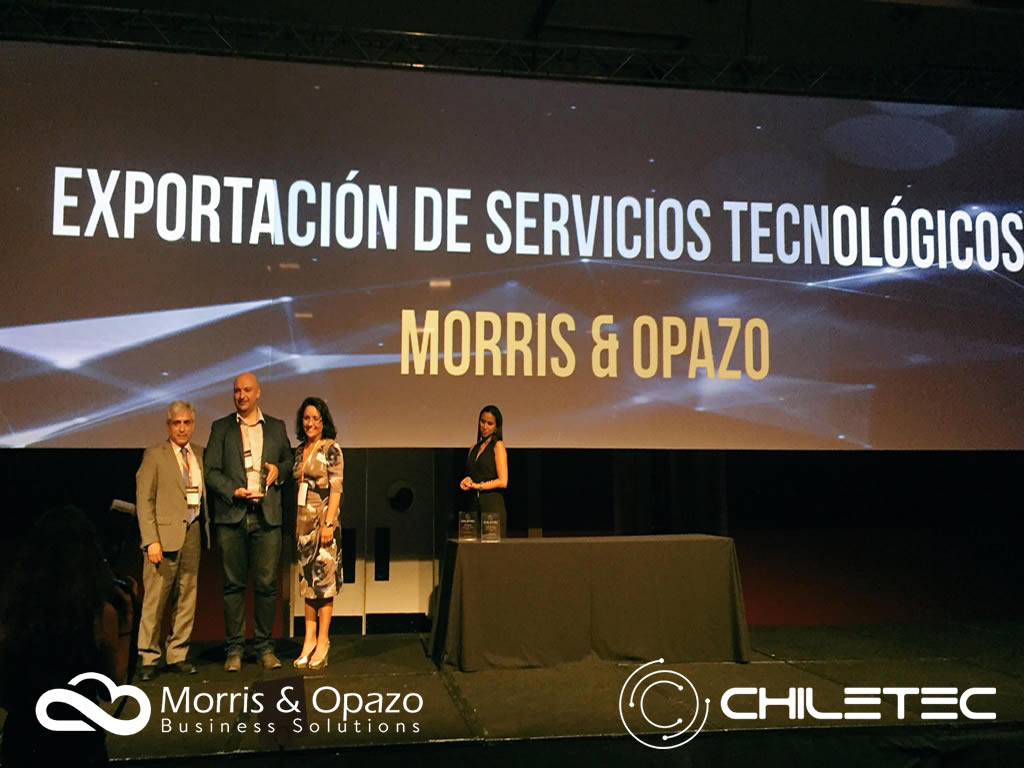Chiletec awarded Morris & Opazo as a Leader Company in Technology Services Export